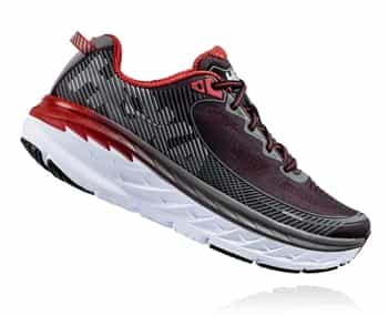 Mens Hoka BONDI 5 Road Running Shoes - Black / Formula One