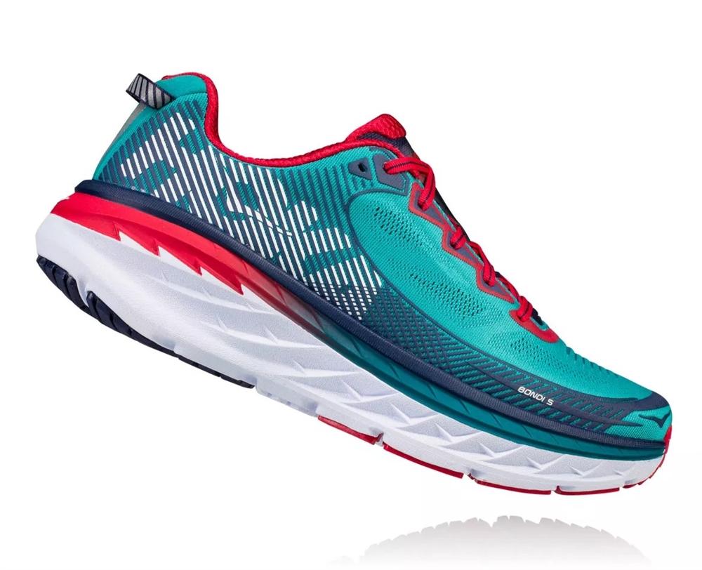 Peacoat Road Men's Blue Tile Hoka Running 5 Bondi Shoes hdstQrC