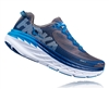 Mens Hoka BONDI 5 Road Running Shoes - Charcoal Gray / True Blue