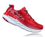Mens Hoka BONDI 5 Road Running Shoes - High Risk Red / Haute Red