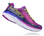 Womens Hoka BONDI 5 Road Running Shoes - Purple Cactus / Citrus