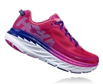 Womens Hoka BONDI 5 Road Running Shoes - Hot Pink / Fuchsia