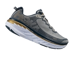 Mens Hoka BONDI 5 WIDE Road Running Shoes - Cool Gray / Midnight Navy