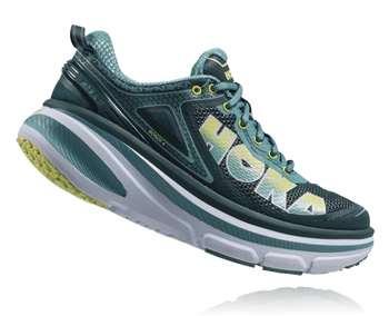 Womens Hoka BONDI 4 Road Running Shoes - Deep Teal / Meadowbrook