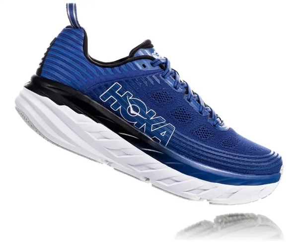 Mens Hoka BONDI 6 Road Running Shoes - Galaxy Blue / Anthracite