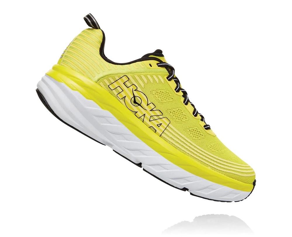 ec2815f42098b0 Men s Hoka BONDI 6 Road Running Shoes - Dresden Blue   Black ...