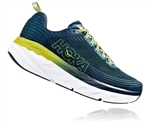 Mens Hoka BONDI 6 Road Running Shoes - White / White Reflective