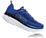 Mens Hoka BONDI 6 WIDE Road Running Shoes - Vapor Blue / Frost Gray