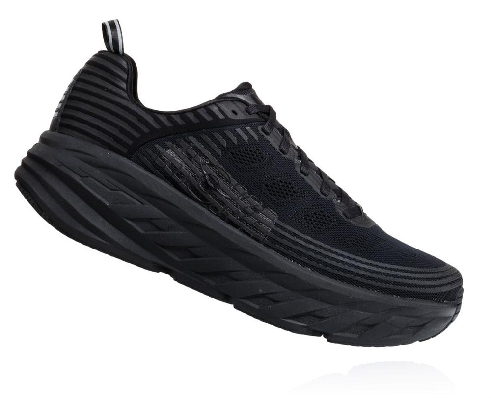 superior quality 347c8 a7913 Women's Hoka BONDI 6 WIDE Shoes - Black / Black
