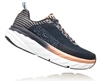 Womens Hoka BONDI 6 WIDE Road Running Shoes - Mood Indigo / Dusty Pink