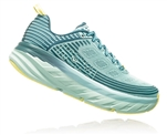 Womens Hoka BONDI 6 Road Running Shoes - Dragonfly / Aqua Haze