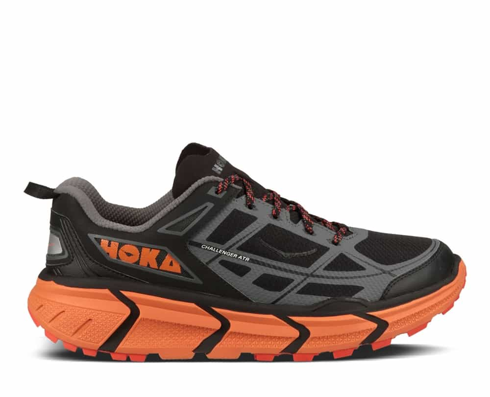 Discount Hoka One One Challenger Atr 4 Black / Orange Sports Shoes for Men Online Sale