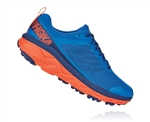 Mens Hoka CHALLENGER ATR 5 Trail Running Shoes - Imperial Blue / Mandarin Red