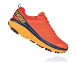 Mens Hoka CHALLENGER ATR 5 Trail Running Shoes - Mandarin Red / Black Iris