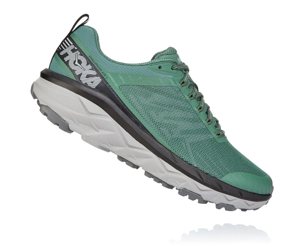 Mens Hoka CHALLENGER ATR 5 Trail Running Shoes - Nasturtium / Frost Gray