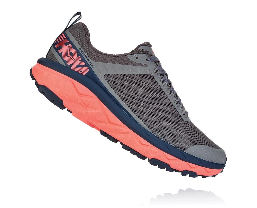 33d8e04b12 Womens Hoka CHALLENGER ATR 5 Trail Running Shoes - Ebony / Very Berry