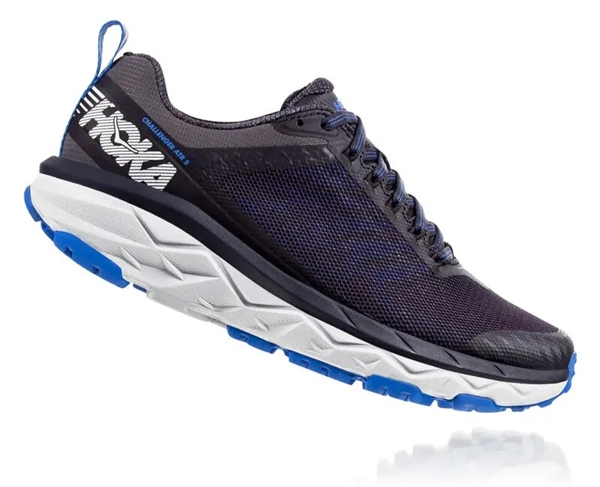 Womens Hoka CHALLENGER ATR 5 Trail Running Shoes - Obsidian / Palace Blue