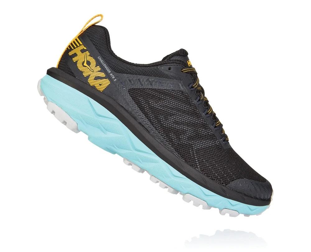 bc1d85b9148e9b Womens Hoka CHALLENGER ATR 5 WIDE Trail Running Shoes - Medieval Blue    Mallard Green