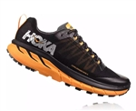 Mens Hoka CHALLENGER ATR 4 Trail Running Shoes - Black / Kumquat