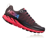 Womens Hoka CHALLENGER ATR 4 Trail Running Shoes - Black / Azalea