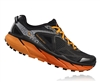 Mens Hoka CHALLENGER ATR 3 Trail Running Shoes - Black / Red Orange