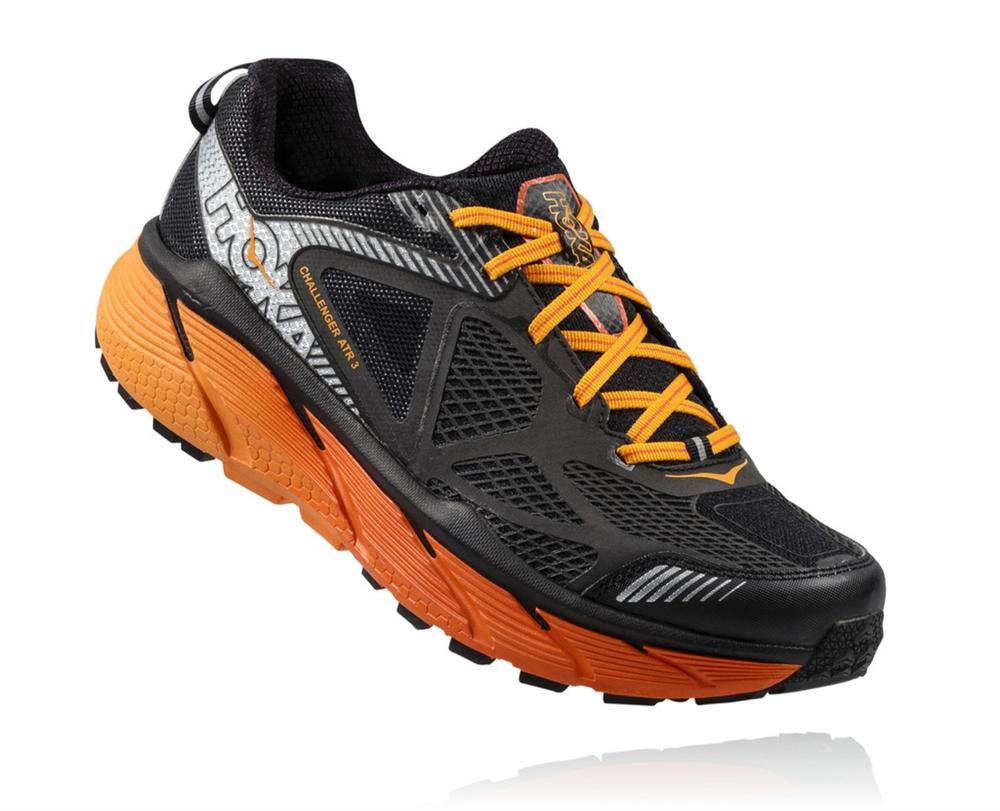 Hoka Shoes: CHALLENGER ATR 3 - Black / Red Orange