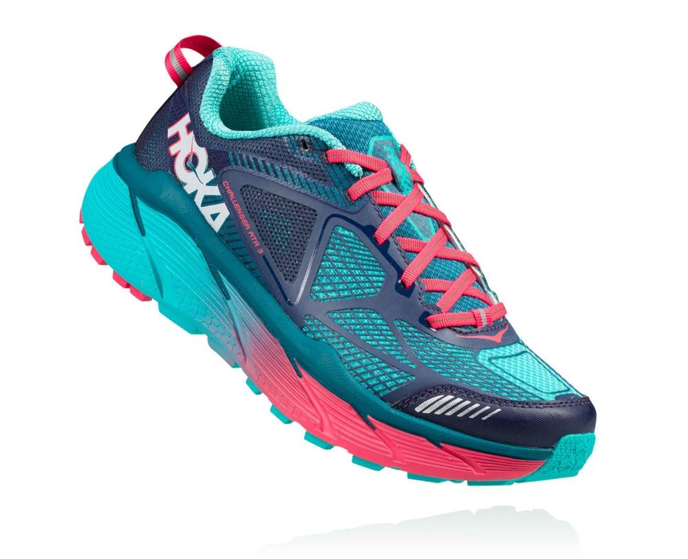 Women s Hoka CHALLENGER ATR 3 Trail Running Shoes - Peacoat ... 00f08d26a56