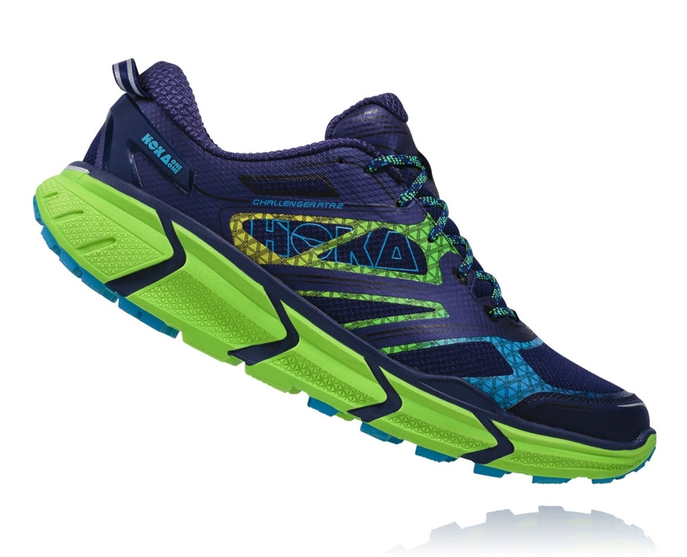 Mens Hoka CHALLENGER ATR 2 Trail Running Shoes - Astral Aura / Neon Green HOKA  CHALLENGER ATR 2 ( MEN ) Larger Photo Email A Friend