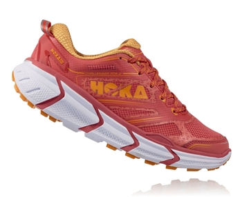 Womens Hoka CHALLENGER ATR 2 Trail Running Shoes - Cayenne / Bright Marigold