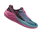 Womens Hoka CLAYTON 2 Road Running Shoes - Medieval Blue / Fuchsia / Blue Atoll