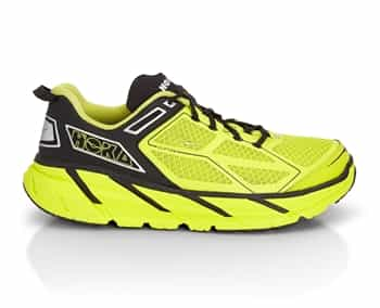 Mens Hoka CLIFTON Road Running Shoes - Citrus / Black / Silver