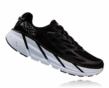 Womens Hoka CLIFTON 3 Road Running Shoes - Black / Anthracite