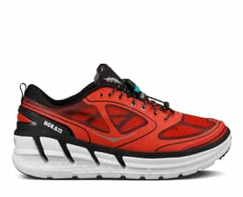 Mens Hoka CONQUEST TARMAC Road Running Shoes - Fiery Red / Black / Silver