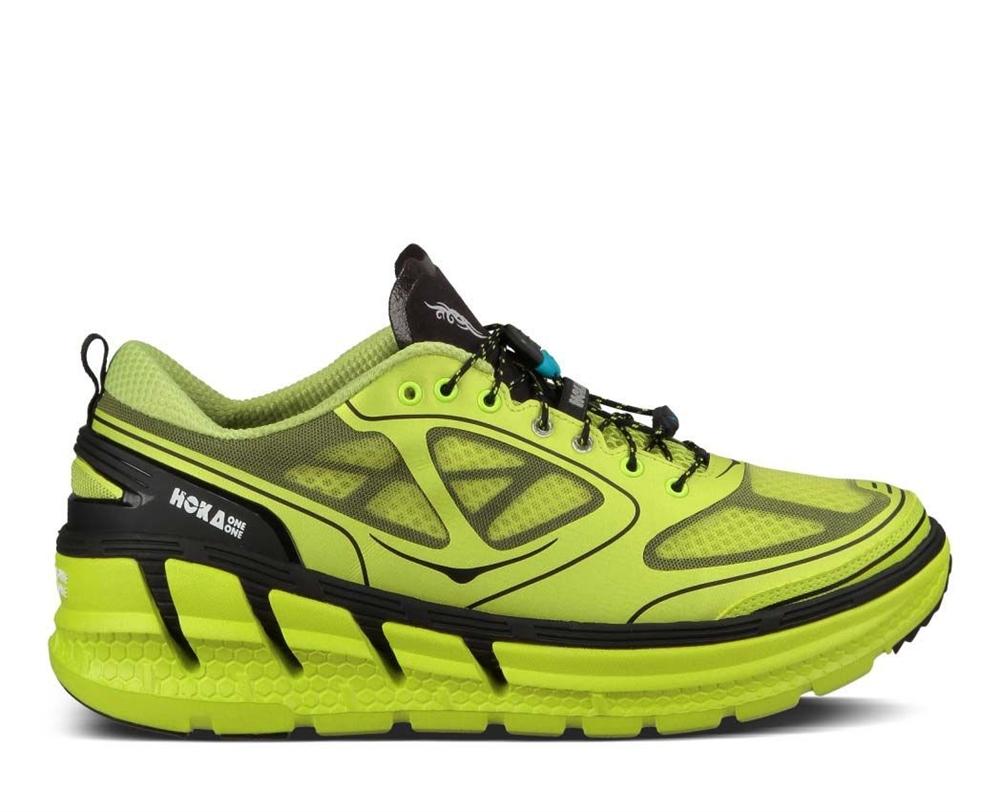 ec2fb2cc4427f Men's Hoka CONQUEST TARMAC Shoes - Citrus / Black | Ultramarathon ...