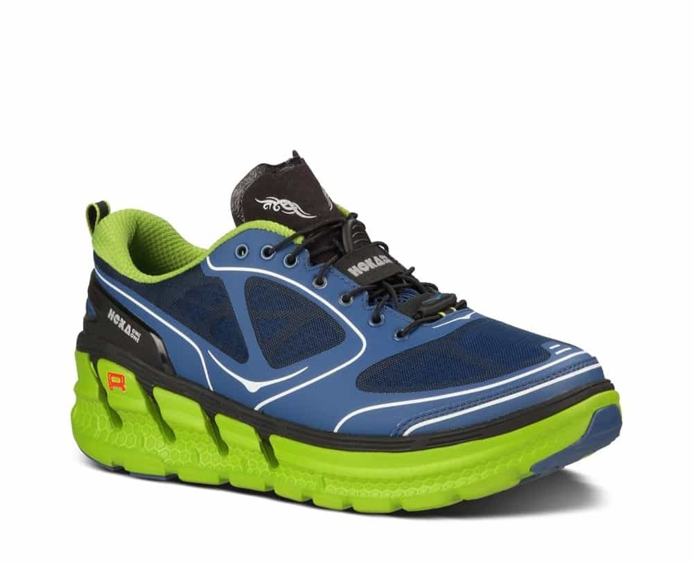 5da7dc60c89cb Men's Hoka CONQUEST TARMAC Shoes - Navy Blue / Lime / Black ...