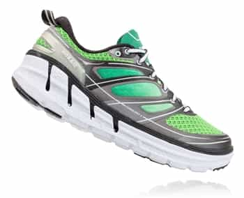 Mens Hoka CONQUEST 2 Road Running Shoes - Green Flash / Silver