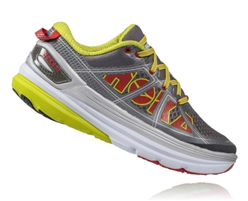 Womens Hoka CONSTANT 2 Road Running Shoes - Grey / Acid