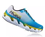 Mens Hoka ELEVON Fly Collection Road Running Shoes - Diva Blue / Sulphur Spring