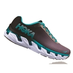 Womens Hoka ELEVON Fly Collection Road Running Shoes - Black / Bluebird