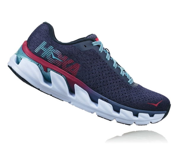 Womens Hoka One One ELEVON Running Shoes - Marlin / Blue Ribbon