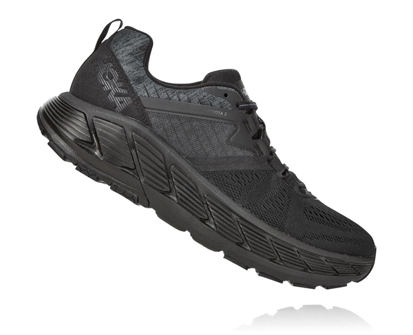 Mens Hoka GAVIOTA 2 Road Running Shoes - Black Iris / Seaport