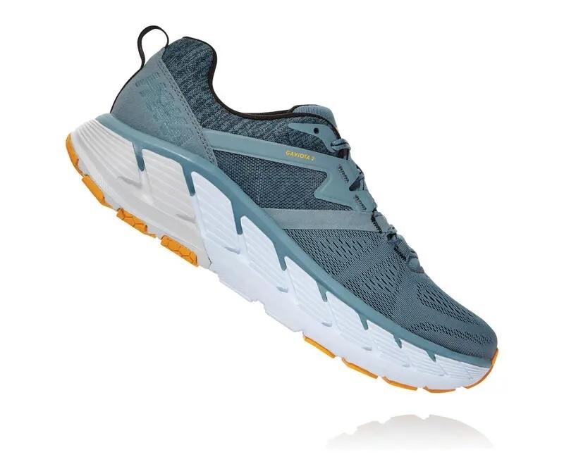 31a01cd7f9 Mens Hoka GAVIOTA 2 WIDE Road Running Shoes - Black / Wrought Iron
