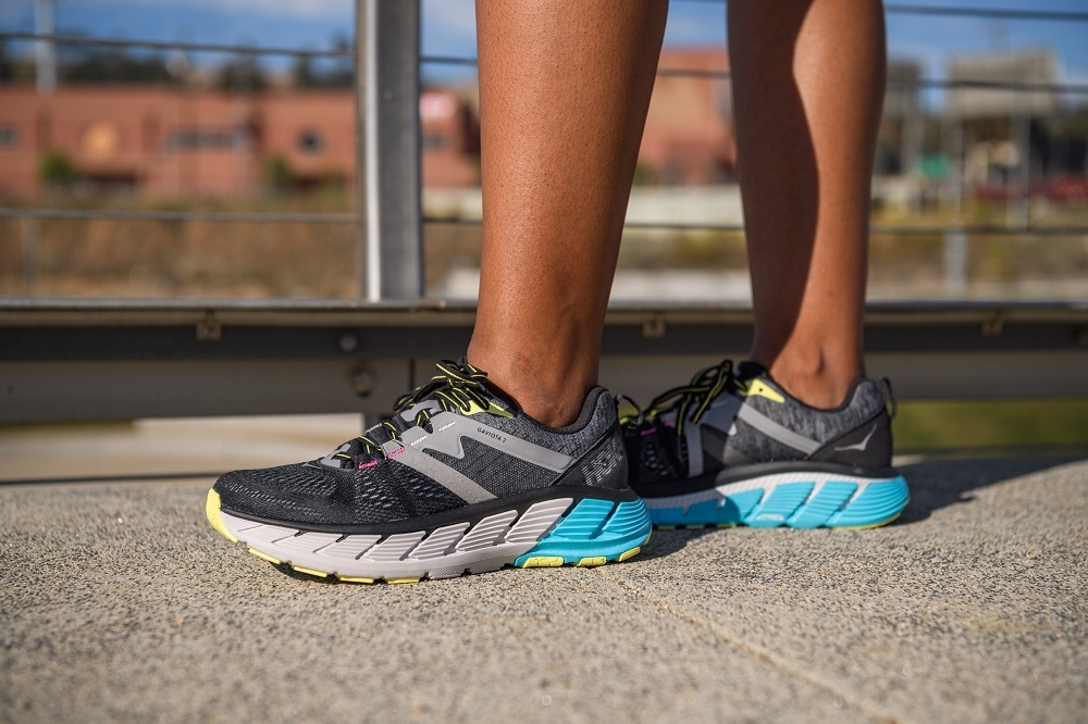42efebac56e6 Women s Hoka GAVIOTA 2 WIDE Running Shoes - Mood Indigo   Dusty Pink ...