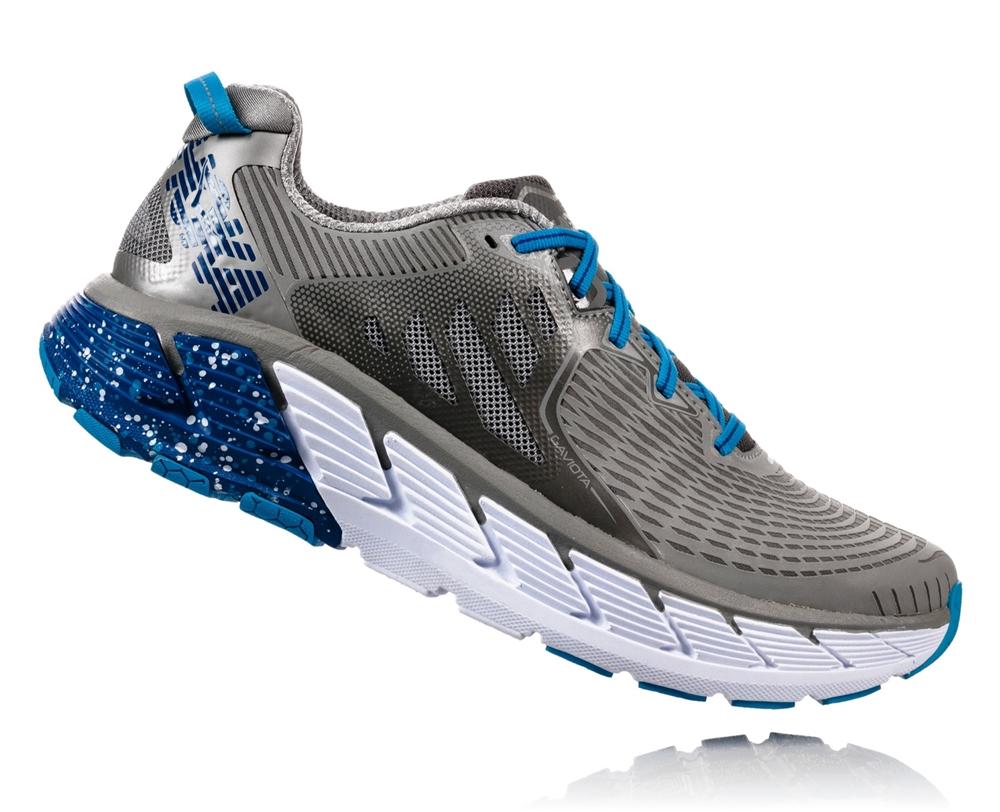 Men s Hoka GAVIOTA WIDE Road Running Shoes - Wild Dove   True Blue ... 8a5bb4e0e6