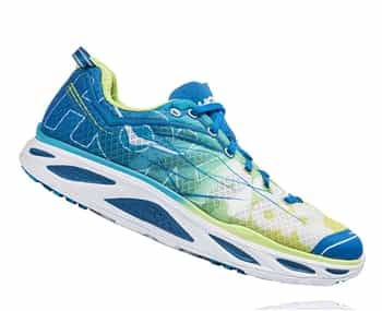 Mens Hoka HUAKA 2 Road Running Shoes - Spring Bud / Blue