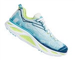 Womens Hoka HUAKA 2 Road Running Shoes - Blue Atoll / Bright Green