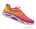 Womens Hoka HUAKA 2 Road Running Shoes - Virtual Pink / Neon Fuchsia