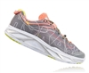 Womens Hoka HUAKA Road Running Shoes - Grey / Neon Coral