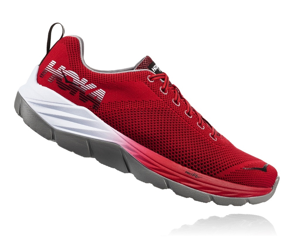 best service 8efcd 014fb Men's Hoka MACH Shoes (Fly Collection) - Racing Red / Black