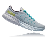 Womens Hoka One One MACH 2 road running shoes - White / Nimbus Cloud